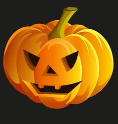 Scary halloween pumpkin vector image