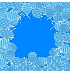 Simple Paper Balloons with White Dots and Bows vector image