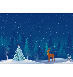 Snow scene vector image
