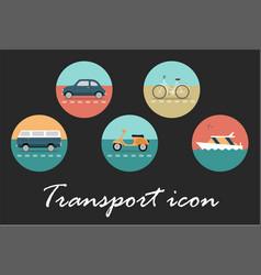 transport retro icon vector image
