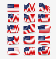 White background of colorful set flags united vector