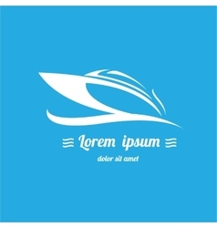 yacht icon boat logo vector image