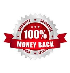 100 prozent money back button vector image