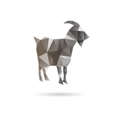 Abstract goat isolated on a white backgrounds vector image