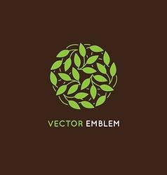 Abstract logo design template - circle made vector