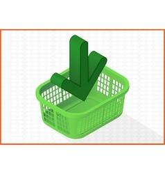 Add to cart basket 3d vector