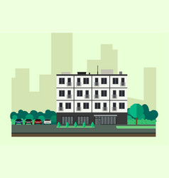 Apartment house vector