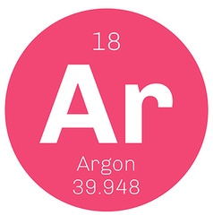 Argon chemical element vector image