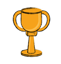 award cup sport win vector image