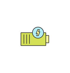 battery icon outline linear editable stroke vector image