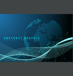 big data visualization graphic abstract vector image