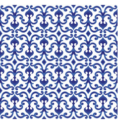 blue and white chinese pattern vector image