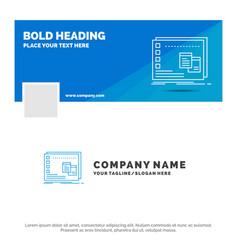 Blue business logo template for window mac vector