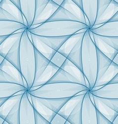 Blue seamless fractal veil pattern design vector