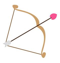 Bow with cupid arrow vector