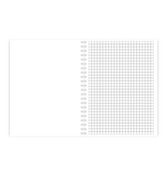 checked note pad sheet in cage vector image