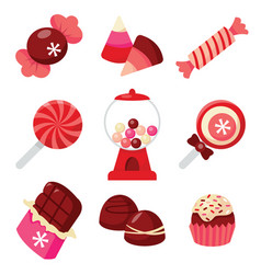 Chocolates and candies vector