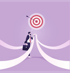 choose right direction to go forward vector image