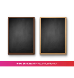 collection vertical menu boards vector image