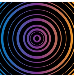 Colorful Circles Black background vector image