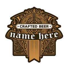 craft beer vintage label vector image