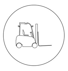 Electric loader icon black color in circle vector