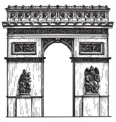 France logo design template Paris or vector image