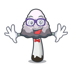 Geek shaggy mane mushroom character cartoon vector