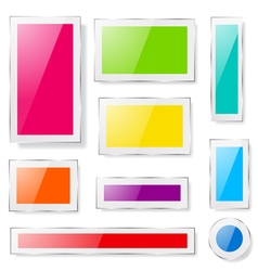 Glass plates different colors vector