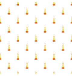 Gold cup sword pattern cartoon style vector