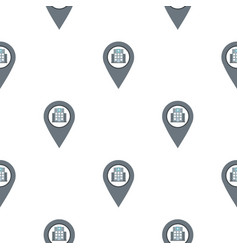 Gray map pointer with symbol hospital pattern flat vector