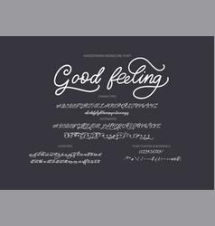 Hand drawn font vector