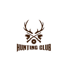 hunting logo design template vector image