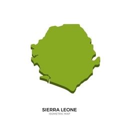 Isometric map of Sierra Leone detailed vector