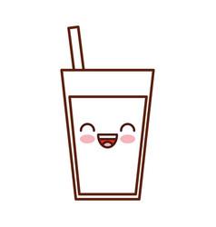 juice tropical fruit beverage kawaii character vector image