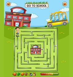 Kids school maze game vector