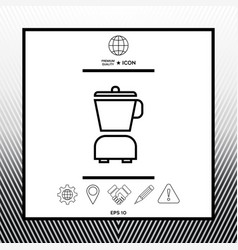Kitchen blender linear icon vector