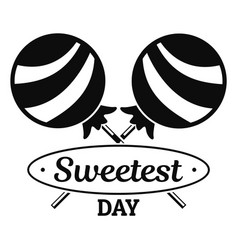 lollipop sweet logo simple style vector image