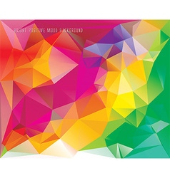 low poly card template vector image