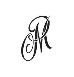 M handwriting tattoo letter design vector