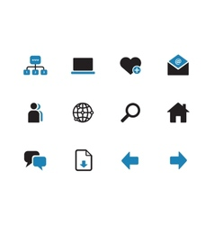 Network duotone icons on white background vector image
