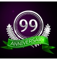 Ninety nine years anniversary celebration with vector image vector image