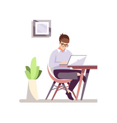 office worker flat color vector image