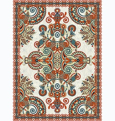 Oriental Floral Ornamental Seamless Carpet vector