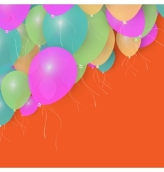 Party Balloons Background for your Text Stock vector