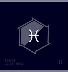 Pisces zodiac sign astrology symbol vector
