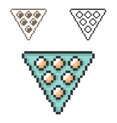 Pixel icon billiards balls triangle in three vector