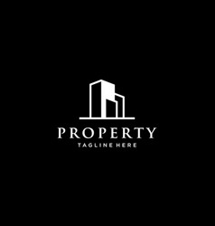 property or real estate logo design concept vector image