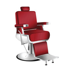 red barber chair vector image