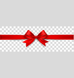 red satin bow isolated on background vector image